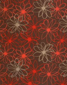 Red Floral Pattern Paper - Free Stock Photo