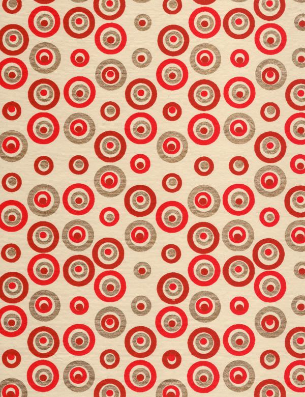 Free Stock Photo of Red Gold Circles Paper Created by Rachael Towne