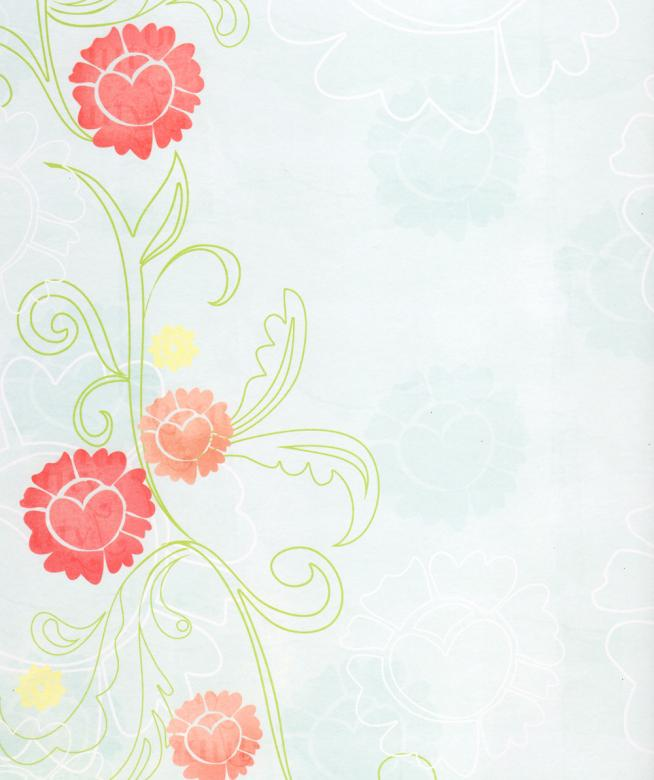 Free Stock Photo of Pale Blue Paper With Red Flowers Created by Rachael Towne