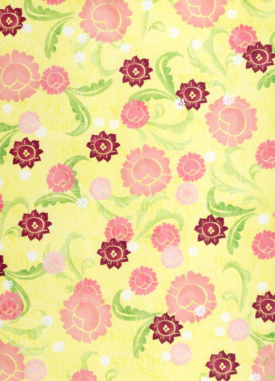 Free Stock Photo of Girly Yellow Floral Paper Created by Rachael Towne