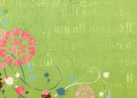 Green Floral Paper - Free Stock Photo