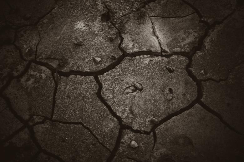Free Stock Photo of Cracked Dark Mud Created by Bjorgvin