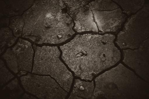 Cracked Dark Mud - Free Stock Photo