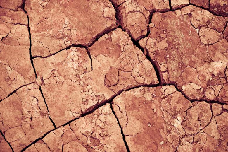 Free Stock Photo of Cracked Mud Texture Created by Bjorgvin