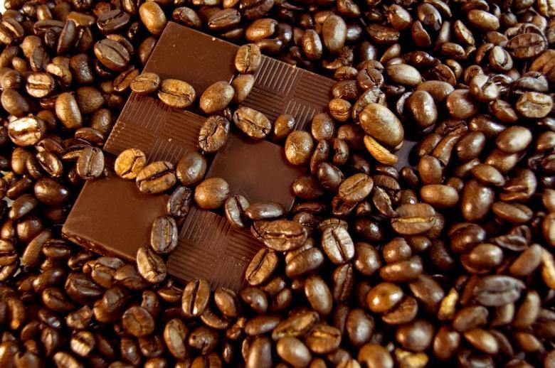 Free Stock Photo of Chocolate and coffee