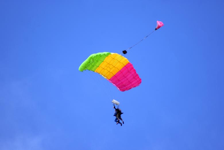 Free Stock Photo of Tandem Parachuting Created by Brian Norcross