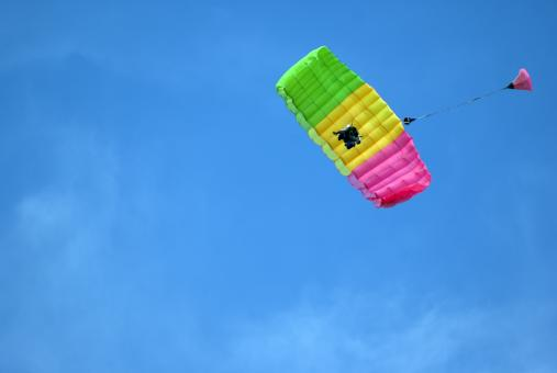 Tandem Parachuting - Free Stock Photo