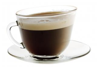 Café en blanco foto gratis
