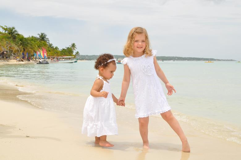 Free Stock Photo of Young girls at the beach Created by Joey Crowley