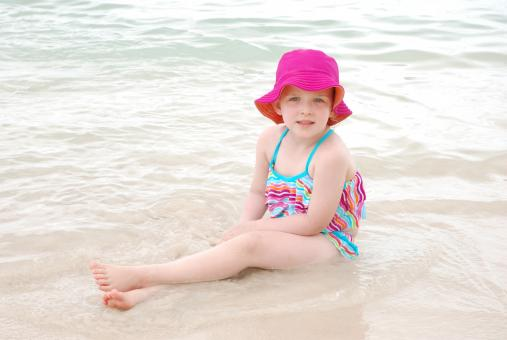 Young girl at the beach - Free Stock Photo