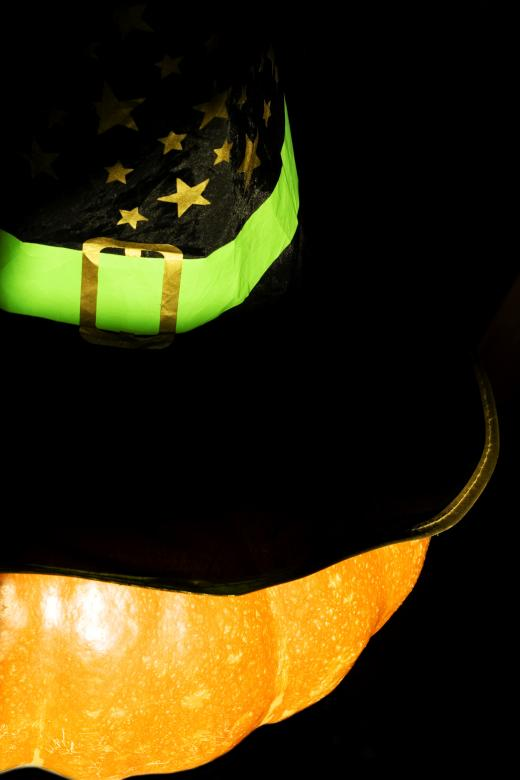 Free Stock Photo of Halloween Pumpkin with Witches Hat Created by 2happy