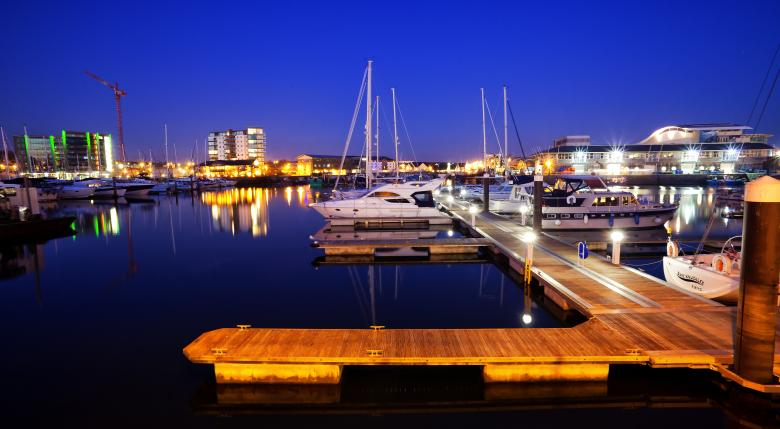Free Stock Photo of Docks at night Created by Andy Fox