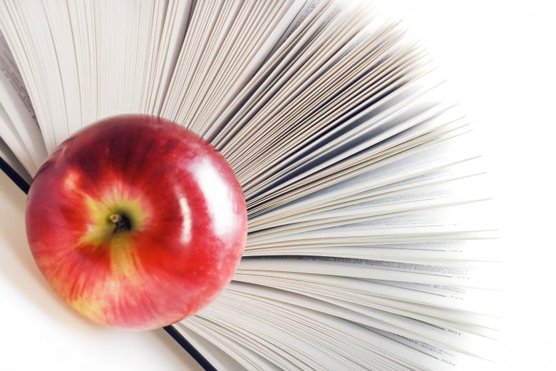 Free Stock Photo of book and apple Created by 2happy