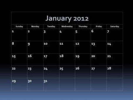 Fade Into Blue 2012 Calendar - Free Stock Photo