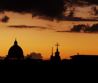 Sunset over Rome Free Photo
