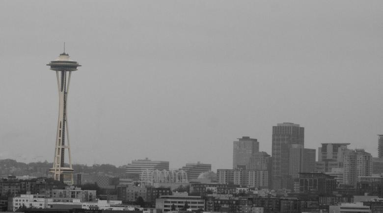Free Stock Photo of Space Needle in haze Created by Chris Adzima