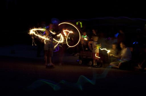 Sparklers and glow sticks - Free Stock Photo