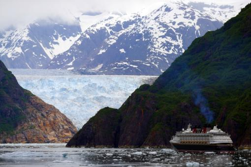 Cruise Ship in Tracy Arm - Free Stock Photo