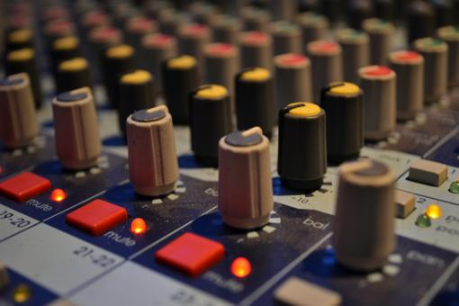 Buttons on mixing board - Free Stock Photo