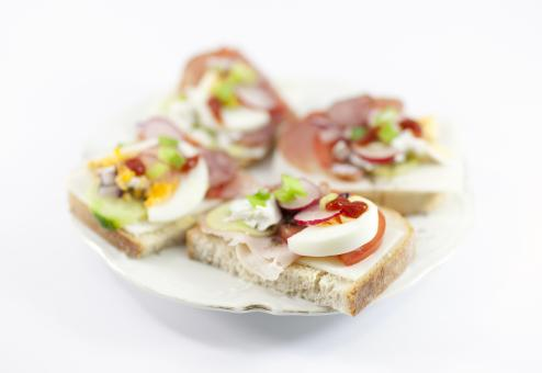Tasty sandwiches on a plate - Free Stock Photo