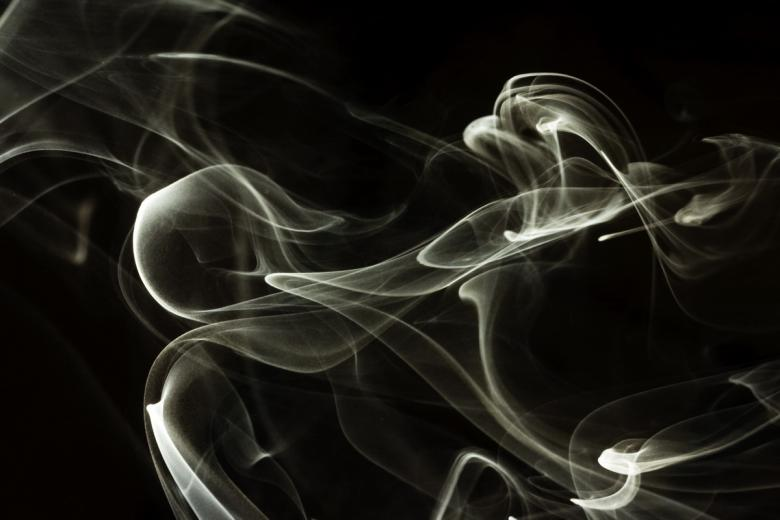 Free stock image of White Swirly Smoke on Black created by 2happy
