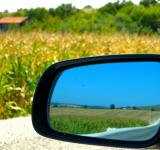 Free Photo - Car Mirror and Cornfield