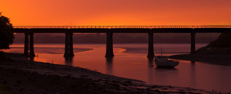 Free Stock Photo of Bridge at sunset Created by Andy Fox