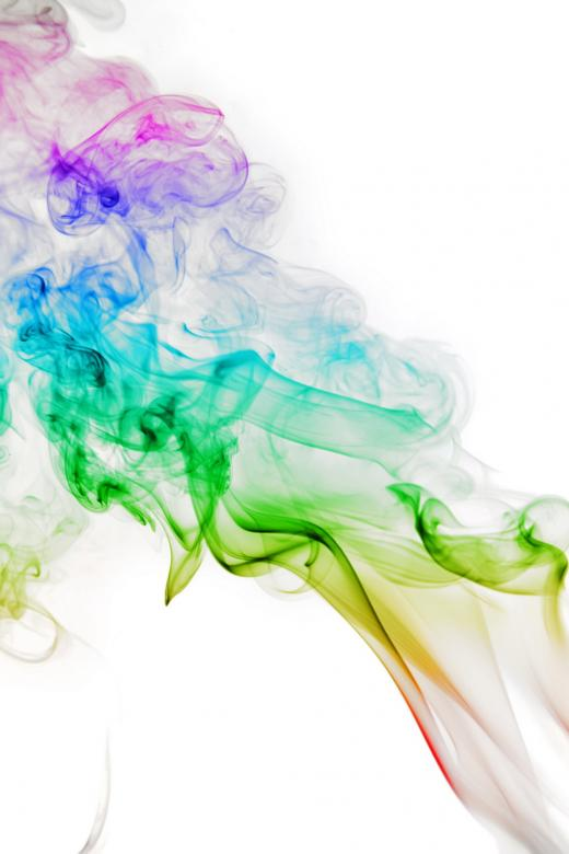 Free Stock Photo of Rainbow Colored Smoke Created by 2happy