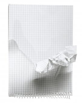 crumpled notebook - Free Stock Photo