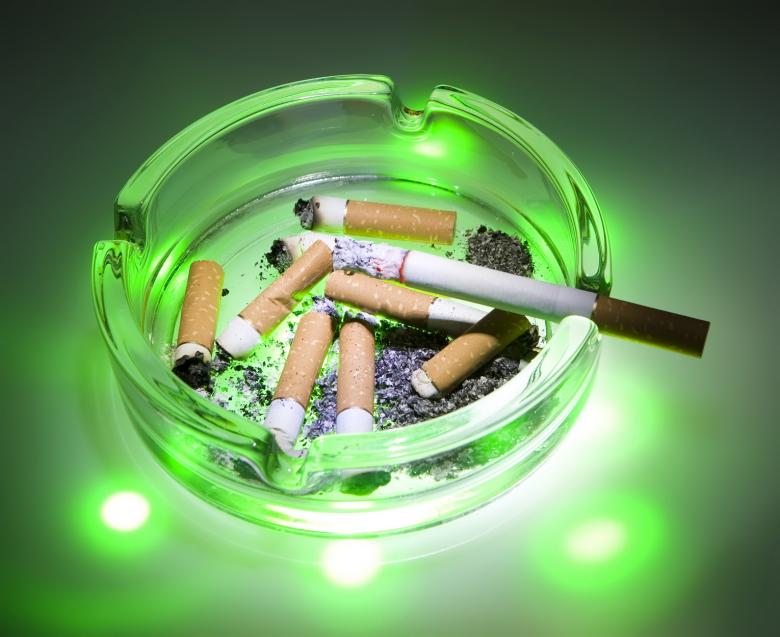 Free Stock Photo of Glass Ashtray with Cigarettes Created by 2happy