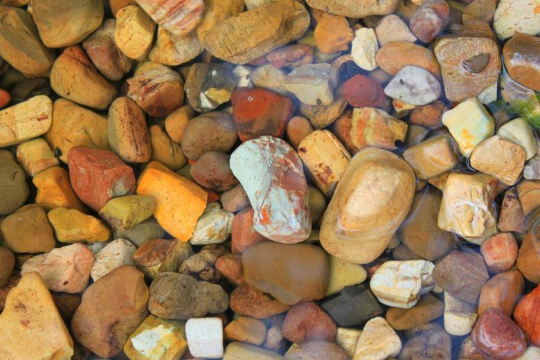 Free Stock Photo of Colorful rocks Created by Val Lawless