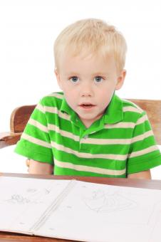 Little boy with a notebook - Free Stock Photo