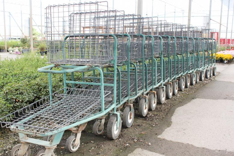 Free Stock Photo of Shopping carts in a garden center Created by Val Lawless