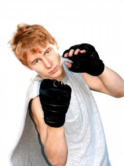Boy ready to fight - Free Stock Photo