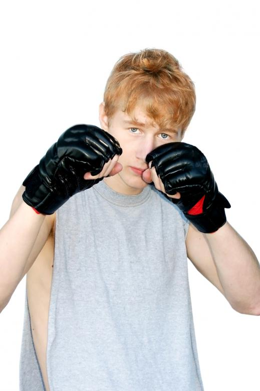 Free Stock Photo of Young man ready to fight Created by Val Lawless