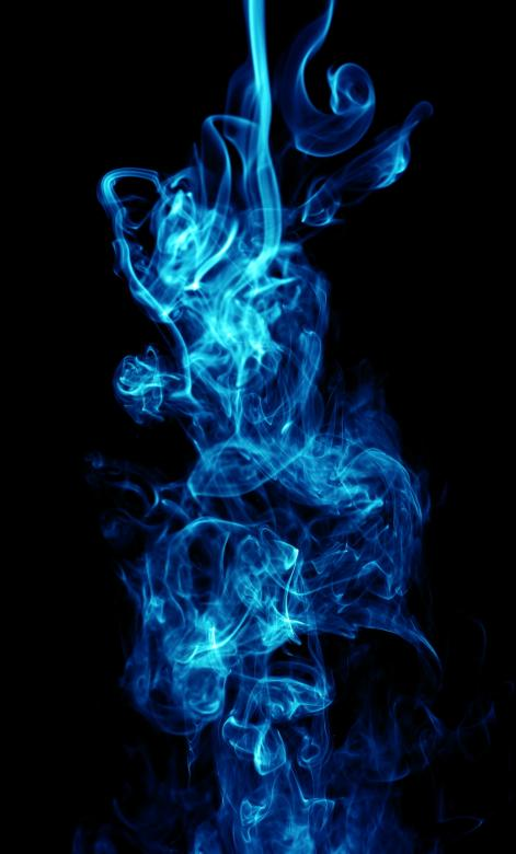 Free Stock Photo of Abstract Blue Smoke on Black Created by 2happy