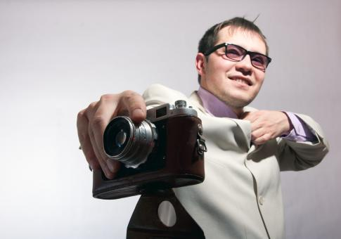 man with camera - Free Stock Photo
