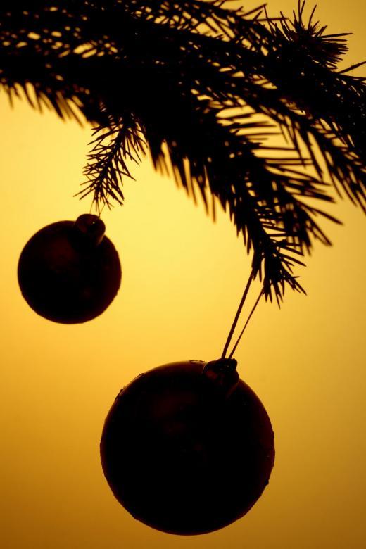 Christmas Decoration Silhouette - Free Christmas Stock Photos