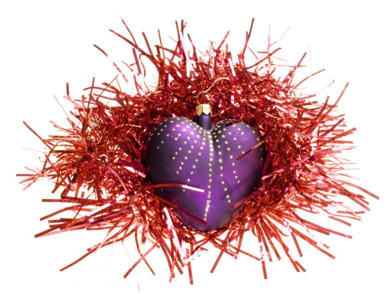 Purple Heart Christmas Decoration - Free Christmas Stock Photos