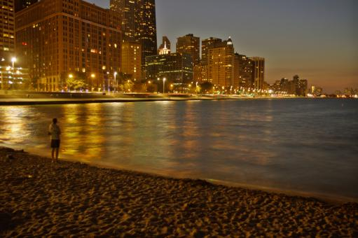 Chicago at night - Free Stock Photo