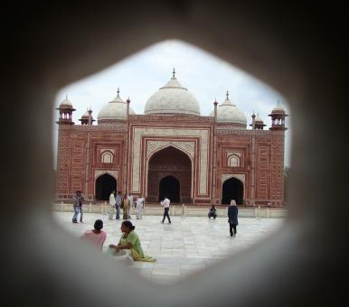 Hole View of Taj Mahel Gate - Free Stock Photo