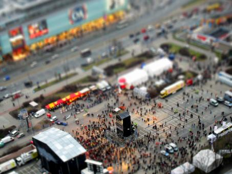Warsaw tilt-shift - Free Stock Photo