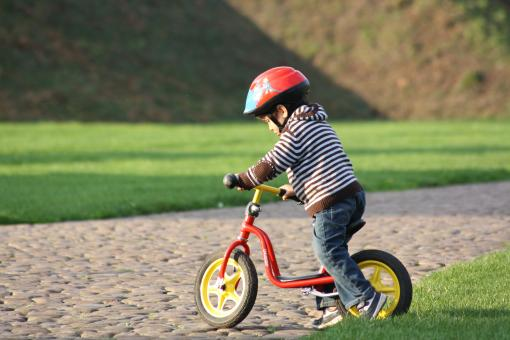 Little Boy on bike - Free Stock Photo