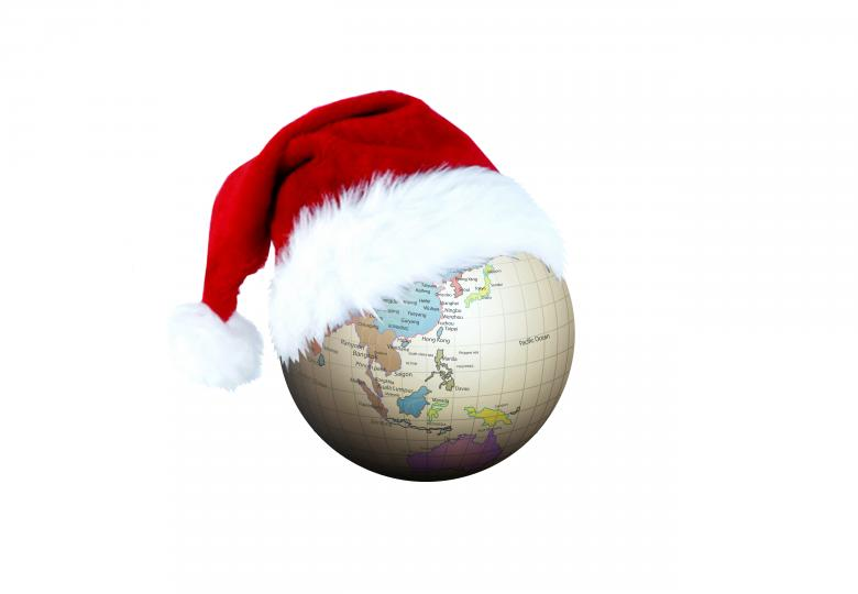 Free Stock Photo of Christmas Globe Created by Diana