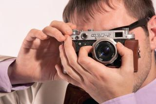Download man with camera Free Photo