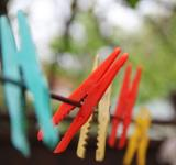 Free Photo - Colorful washing tongs