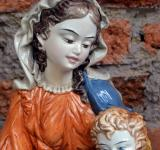 Free Photo - Virgin Mary and baby Jesus statue