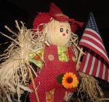 Free Photo - American flag with scarecrow