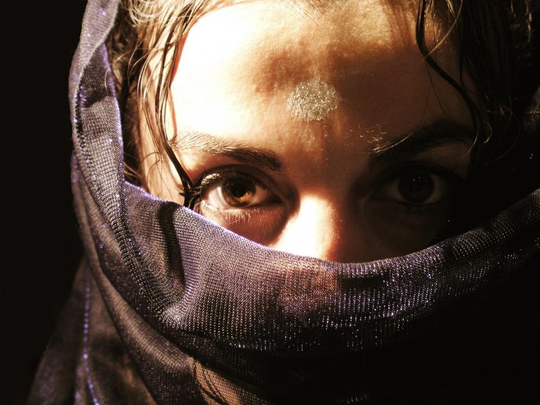 Free Stock Photo of Arab woman with veil Created by Merelize