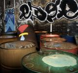 Free Photo - Urban oil cans/drums